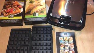 Tefal Snack Collection SW852D Multifunktionsgerät für Waffeln und Sandwiches Unboxing und Anleitung