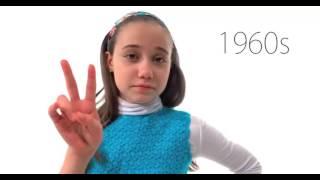 Эволюция девочек за 100 лет