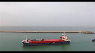 karasu limanına ilk gemi yanaştı. karasu ilçemize hayırlı olsun