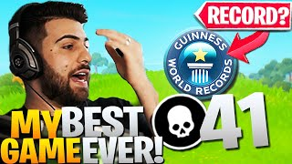 We Dropped *41 ELIMS* IN A PRO TOURNAMENT GAME! (World Record?)   Fortnite Battle Royale