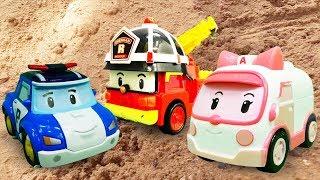 Видео про машинки из мультика Робокар Поли для детей