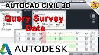 Query Survey Data  AutoCAD Civil 3D  Autodesk Knowledge