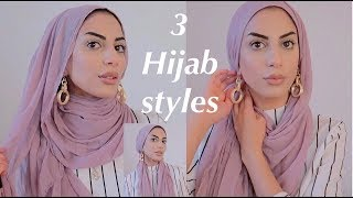 3 Hijab Styles Using Maxi Scarf With Earrings!