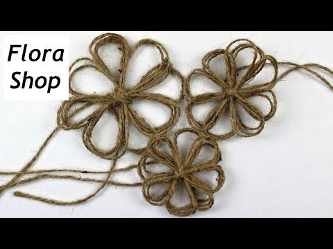 Blume aus Paketband selber machen ❁ Deko Ideen mit Flora-Shop