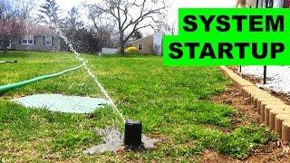 How to start up your sprinkler system