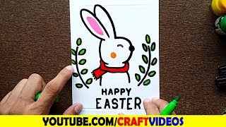 HOW TO DRAW A HAPPY EASTER CARD