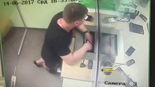 Новосибирск. Вор в Сбербанке.