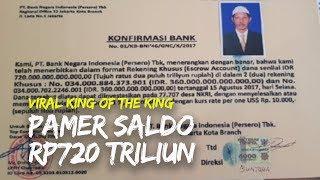 Viral di Twitter Kerajaan King of The King Pamer Saldo Rp720 Triliun, BNI: Itu Tidak Benar