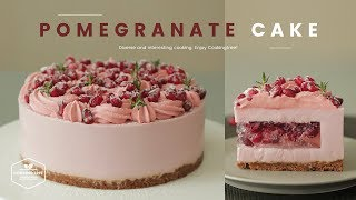 노오븐~❤︎ 석류 치즈케이크 만들기 : No-Bake Pomegranate Cheesecake Recipe : ザクロレアチーズケーキ | Cooking ASMR
