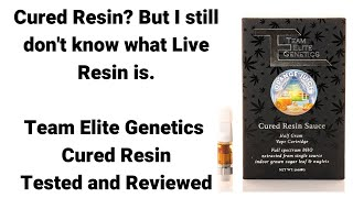What is cured resin? Team Elite Genetics: Orange Juice Cured Resin. Tested and reviewed. by  Weeats Reviews
