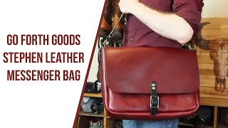Stephen Leather Messenger Bag From Go Forth Goods
