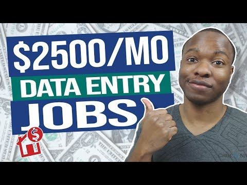 Earn $2500 PER MONTH Remote Data Entry Jobs (Work From Home Tutorial)