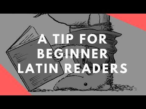 A tip for beginner Latin readers. How to bridge the divide between English word order and Latin inflected (endings) system.