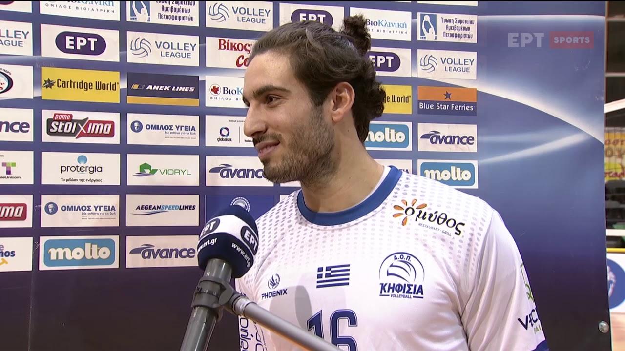 "Volley League | Ο Κασαμπαλής ""διέλυσε"" τα μόνιτορ & αυτοτρολαρίστηκε στο flash interview | 11/02|ΕΡΤ"