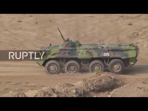 Tajikistan: CSTO choppers and armour take part in explosive military drills