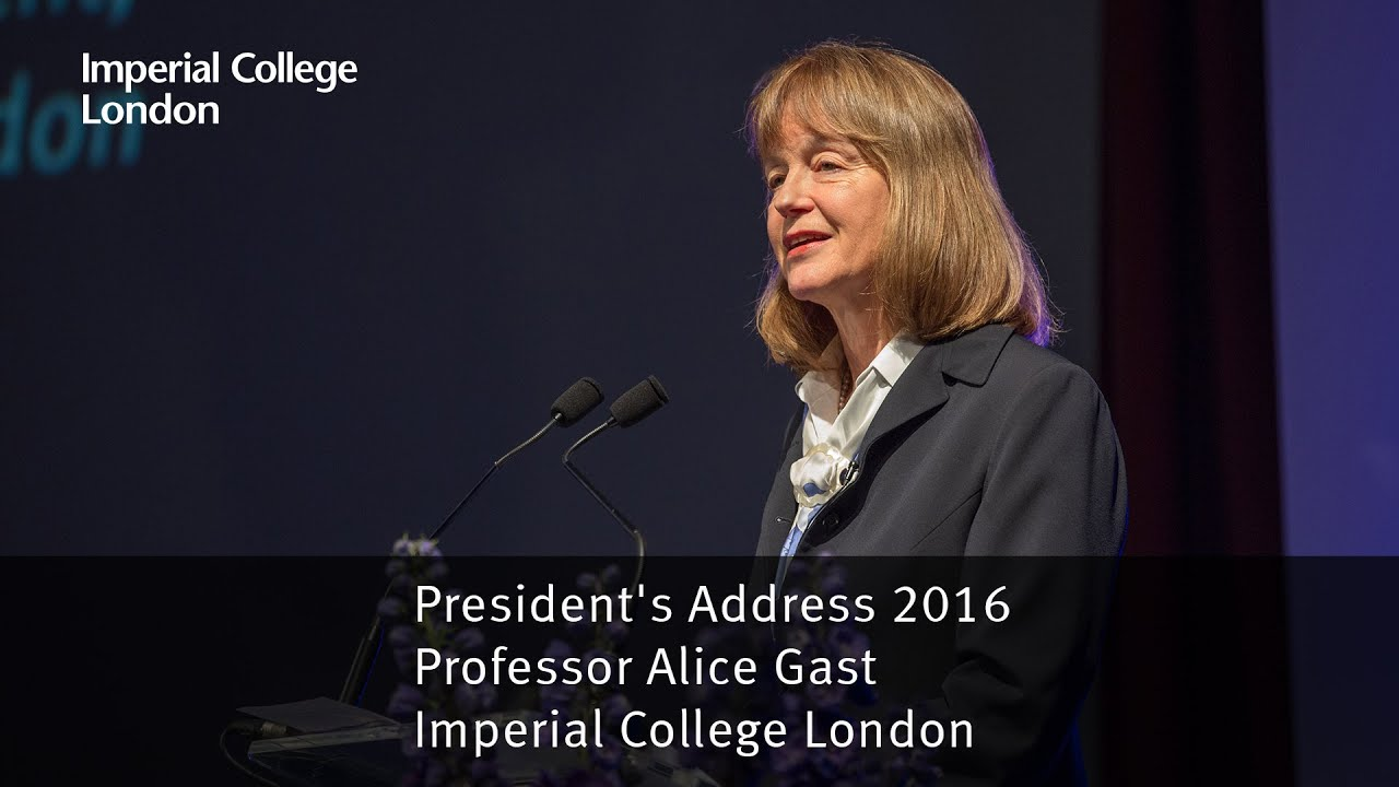 Professor Alice P. Gast delivers her second annual address 'What do we mean by excellence?'' on 17 March 2016.