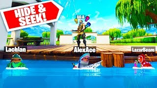 ALI-A CAN'T FIND ME!! | Fortnite Hide & Seek With Lachlan, Ali-A & LazarBeam