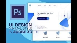 Health Web Design - Minimal UI - Adobe XD - Speed Art Tutorial