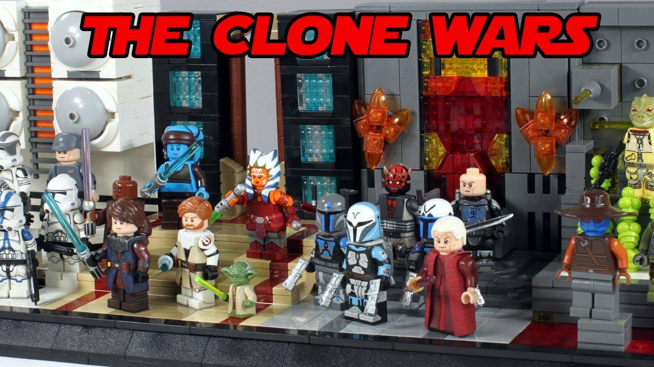 LEGO Star Wars The Clone Wars Figure Display MOC