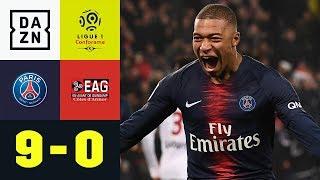 Kylian Mbappe & Co. Mit Gnadenlosem Rachefeldzug: PSG   Guingamp 9:0 | Ligue 1 | DAZN Highlights