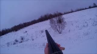 Охота на зайца. Подняли с лежки. Охота с ИЖ 58.