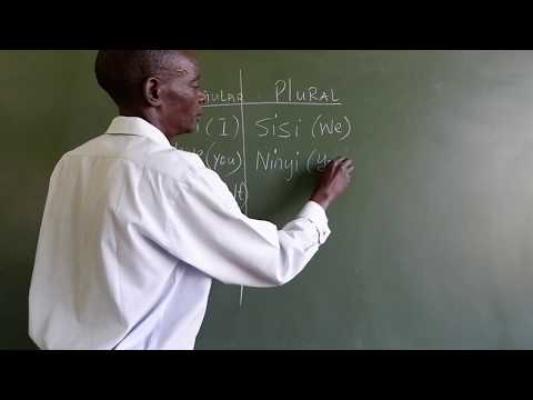 LEARN SWAHILI - First grammar lesson and simple greetings in Swahili