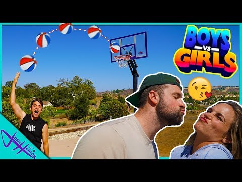 BOYS vs GIRLS TRUTH or DARE Trick Shot Challenge!