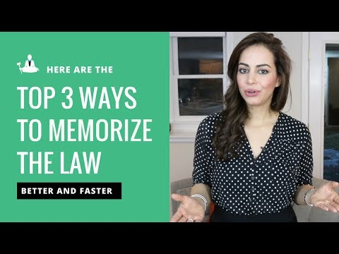 How to Memorize the Law Faster and Easier