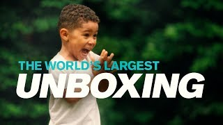 The new Volvo VNL - World's largest unboxing starring 3-year-old Joel