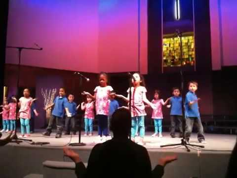 Preschoolers Singing I Will Tell and Together We Can By Michelle Endicott