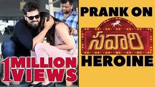 Prank On SAVAARI Movie Heroine Priyanka Sharma With Actor Nandu | Latest Telugu Pranks | FunPataka