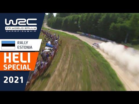 WRC 2021 第7戦ラリー・エストニア 上空のヘリカメラから見たハイライト動画