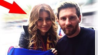 Lionel Messi Top 20 Crazy fan meets   A Girl jumped out of gallery on Messi & he laughed  CRAZY 2018