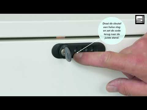 SWAN Slide & Go uittrekbare lade cijferslot reset met sleutel