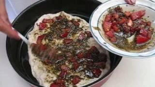 Za3tar Mana2eesh- مناقيش زعتر - Zaatar On Bread Dough