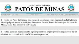 Prefeitura de Patos de Minas publica lei com valores e requisitos para auxílio financeiros à artistas e permissionários do transporte escolar.