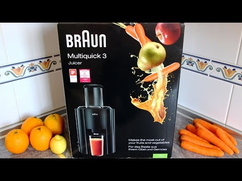 Braun J300 Multiquick 3 Juicer Demo