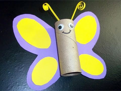 How to make a toilet paper tube butterfly
