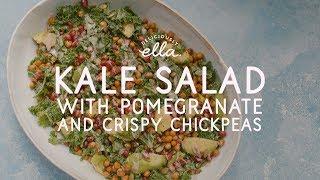 Kale Tahini Salad With Crispy Chickpeas