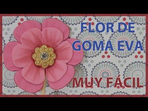 30284ef8aac Rosa de Foamy o Goma Eva paso a paso