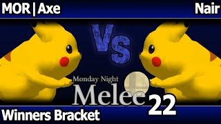 MNM 22 Melee - MOR | Axe (Pikachu) vs Nair (Pikachu) - Winners Bracket