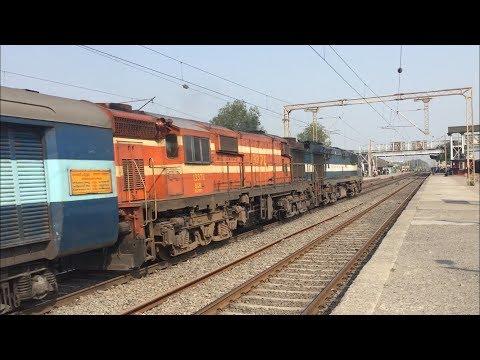 Twins  WDG-3A  Powered Kakinada Port - Bhavnagar Weekly Express - Indian Railways.