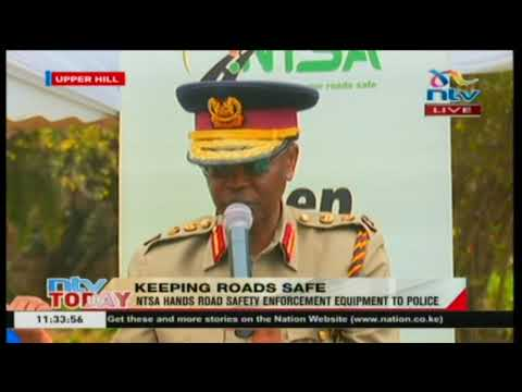 NTSA hands road safety enforcement equipment to police