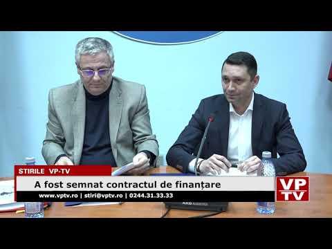 A fost semnat contractul de finanțare