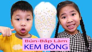 Bé Bún Làm Kem Bông Rắc Cốm 7 Màu – Homemade Candy Floss