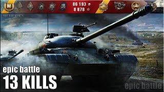 Объект 140 КРАСАВА 13 ФРАГОВ, 9500+ dmg 🌟🌟🌟 World of Tanks лучший бой на ст