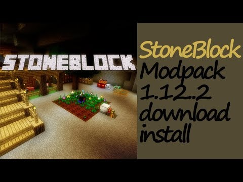 STONEBLOCK MODPACK 1.12.2 minecraft - how to download and install Stone Block Modpack [Kaspar]