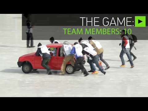 New Olympic sport? Russians play curling with cars