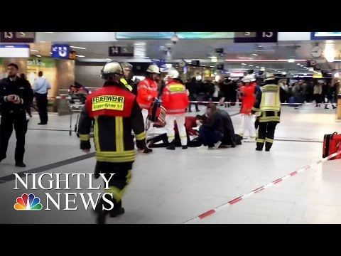 Germany Attack: 5 Injured In Ax Stabbings At Dusseldorf Train Station   NBC Nightly News