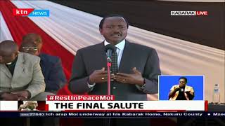 Hon. Kalonzo Musyoka pays tribute to Former President Daniel Moi
